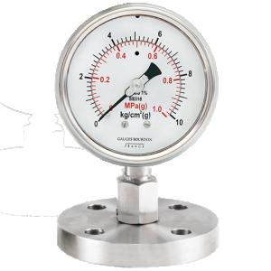 (Tiếng Việt) Đồng hồ áp suất màng flush nối bích - GB Pháp