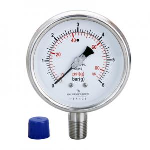 (Tiếng Việt) Đồng hồ áp suất chân đứng 100mm - GB - Pháp