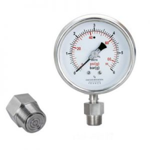 (Tiếng Việt) Đồng hồ áp suất màng flush nối ren (mini flush) - GB Pháp