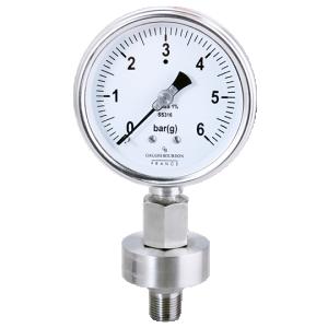 (Tiếng Việt) Đồng hồ áp suất Màng Sandwich mặt 100, 0 - 6 kg/cm²(g)