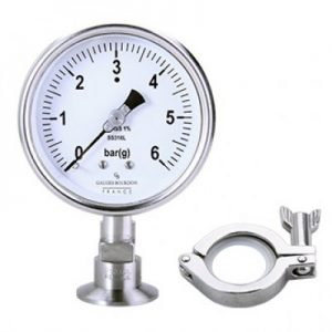 (Tiếng Việt) Đồng hồ áp suất dạng màng cho thực phẩm mặt 100mm- GB Pháp