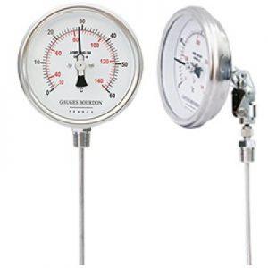 (Tiếng Việt) Đồng hồ đo nhiệt độ mặt 100 mm, chân xoay - GB Pháp