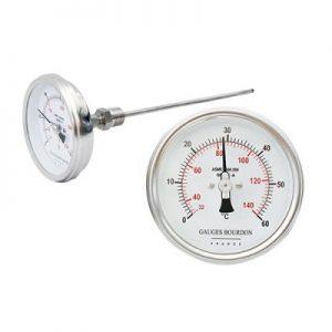 (Tiếng Việt) Đồng hồ đo nhiệt độ mặt 100 mm, chân sau - GB Pháp