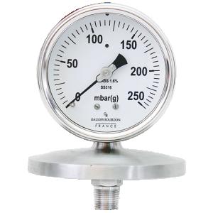 (Tiếng Việt) Đồng hồ áp suất thấp dạng màng nối ren mặt 100mm - GB Pháp