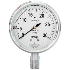 (Tiếng Việt) Đồng hồ áp suất thấp dạng capsule mặt 100mm - GB Pháp