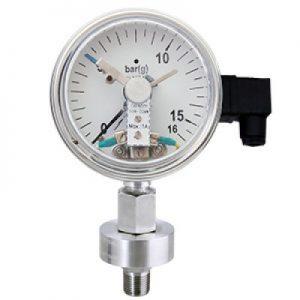 (Tiếng Việt) Đồng hồ áp suất có tiếp điểm dạng màng sandwich nối ren - GB Pháp