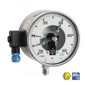VianPool (Tiếng Việt) Đồng hồ đo áp suất 3 kim chống cháy nổ STIKO